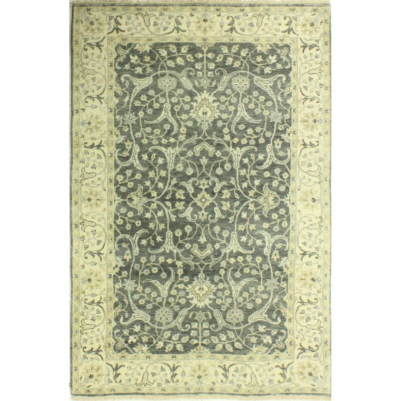 Darby Home Co Crawley Hand Knotted Wool Gray Area Rug Wayfair