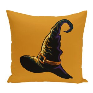 Witch Hat Outdoor Throw Pillow