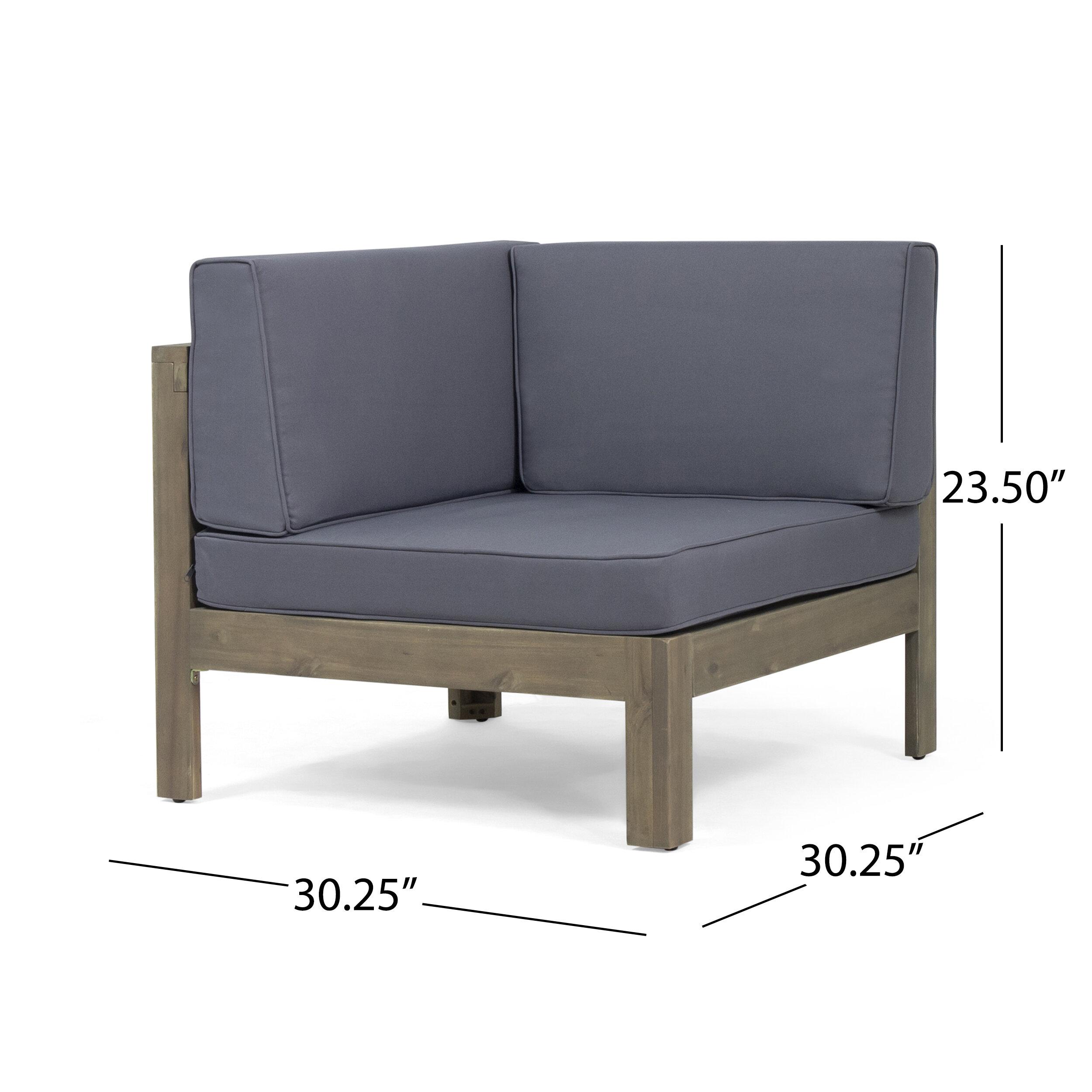 Highland Dunes Kenosha Outdoor 4 Piece Sectional Seating ... on Outdoor 4 Piece Sectional id=93817