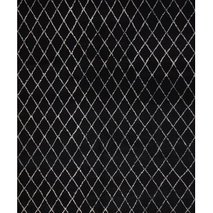 Find One-of-a-Kind Cumby Moroccan Beni Ourain Hand-Knotted 8'3'' x 9'9'' WoolBlack Area Rug By Isabelline