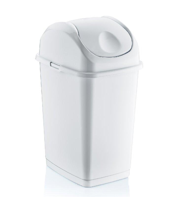 Symple Stuff Spina 9 2 Gallon Swing Top Trash Can Wayfair