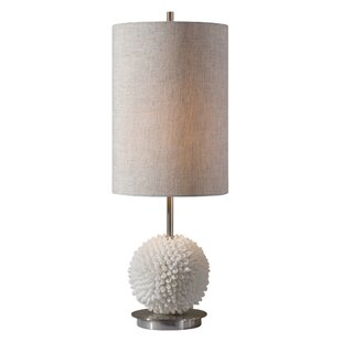 Best Reviews Zephyr Sea Shells 24 Table Lamp By Wrought Studio