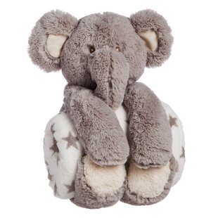 Big Save Helle Cuddly Elephant Stuffed Animal Blanket Gift Set ByViv + Rae