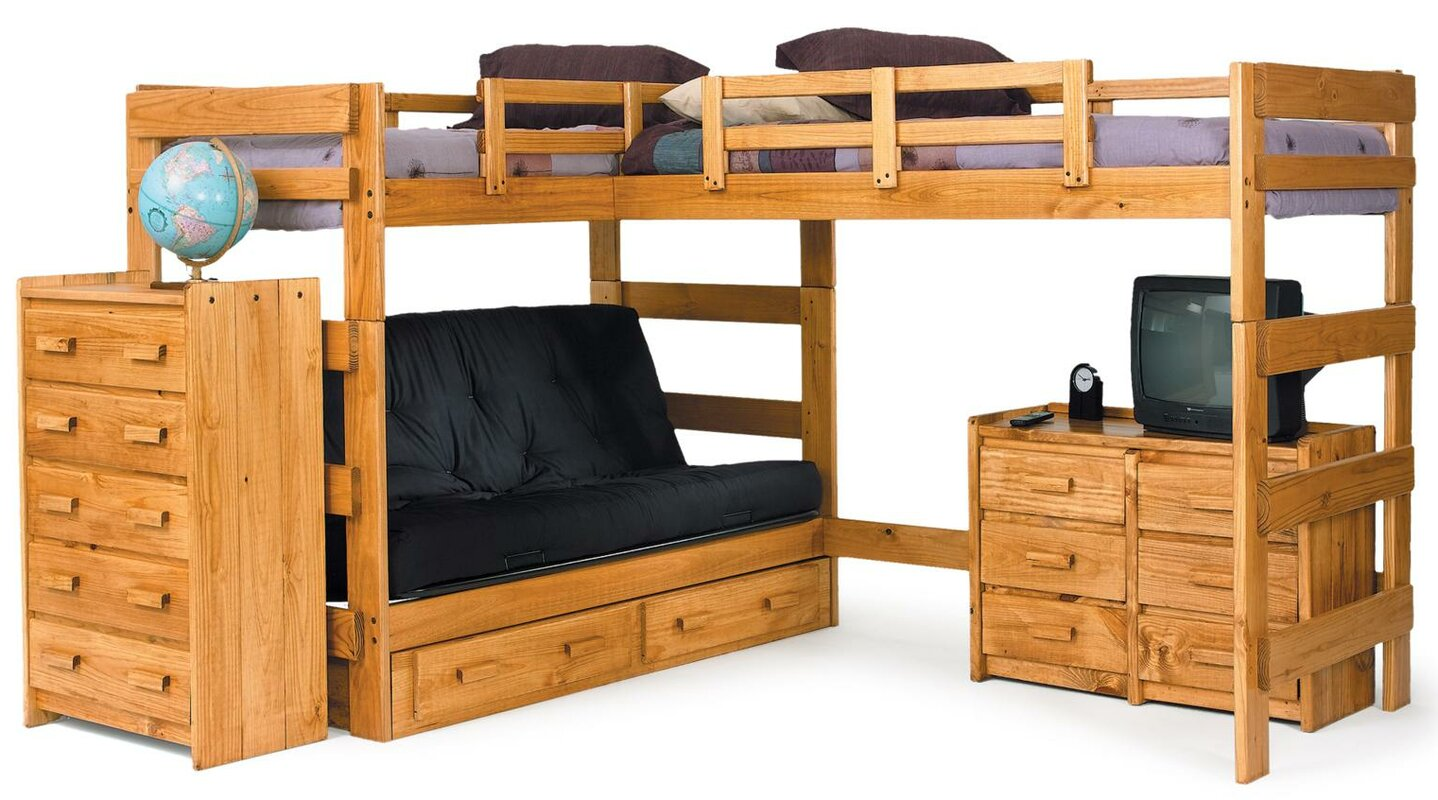 Chelsea Home L Shaped Bunk Bed Customizable Bedroom Set & Reviews