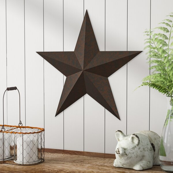 """12/"""" Hand Painted Americana Star--11.5/"""" by 12/"""" by 1.25/"""" made of Metal"""