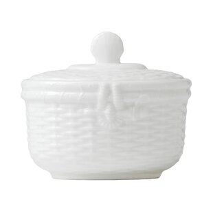 Nantucket Basket Sugar Bowl with Lid