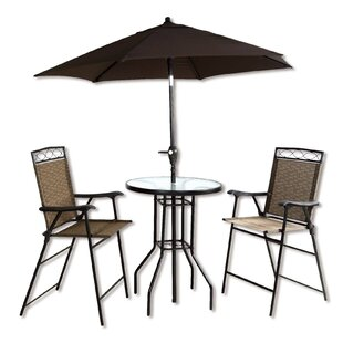 Stjean 4 Piece Bar Height Dinning Set With Umbrella