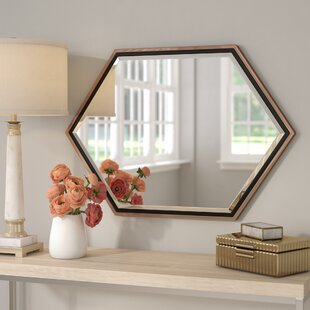 Contemporary Metal Frame Accent Wall Mirror