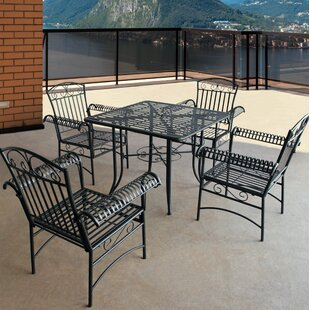 August Grove Criner Courtyard 5 Piece Dining Set