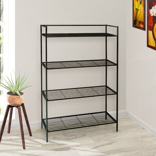 Cadogan 4 Shelf Metal Standard Bookcase Wrought Studio