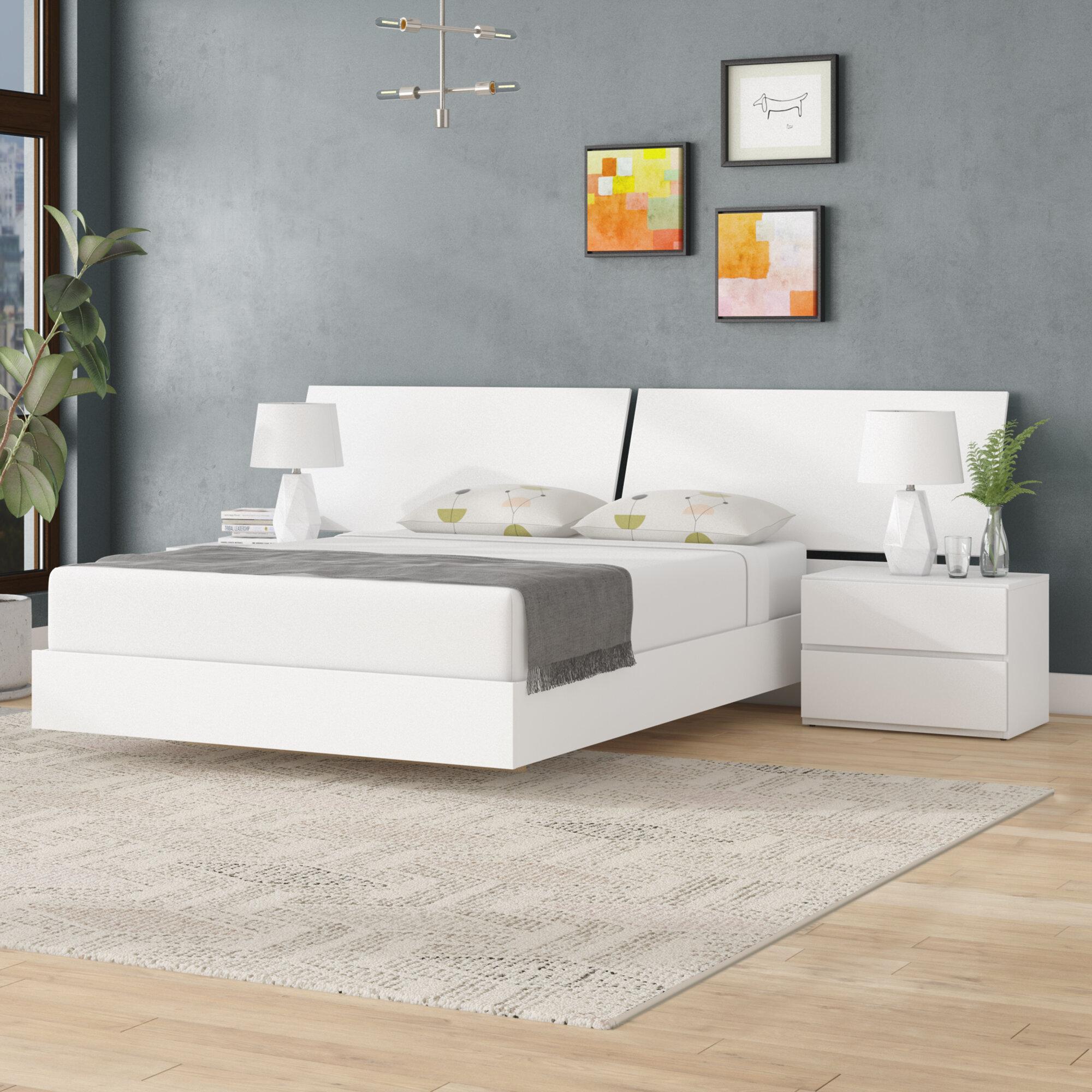 Wrought Studio Gabriella Platform 4 Piece Bedroom Set Reviews Wayfair Ca