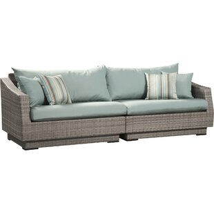 Castelli Sofa With Sunbrella Cushions by Wade Logan Savings