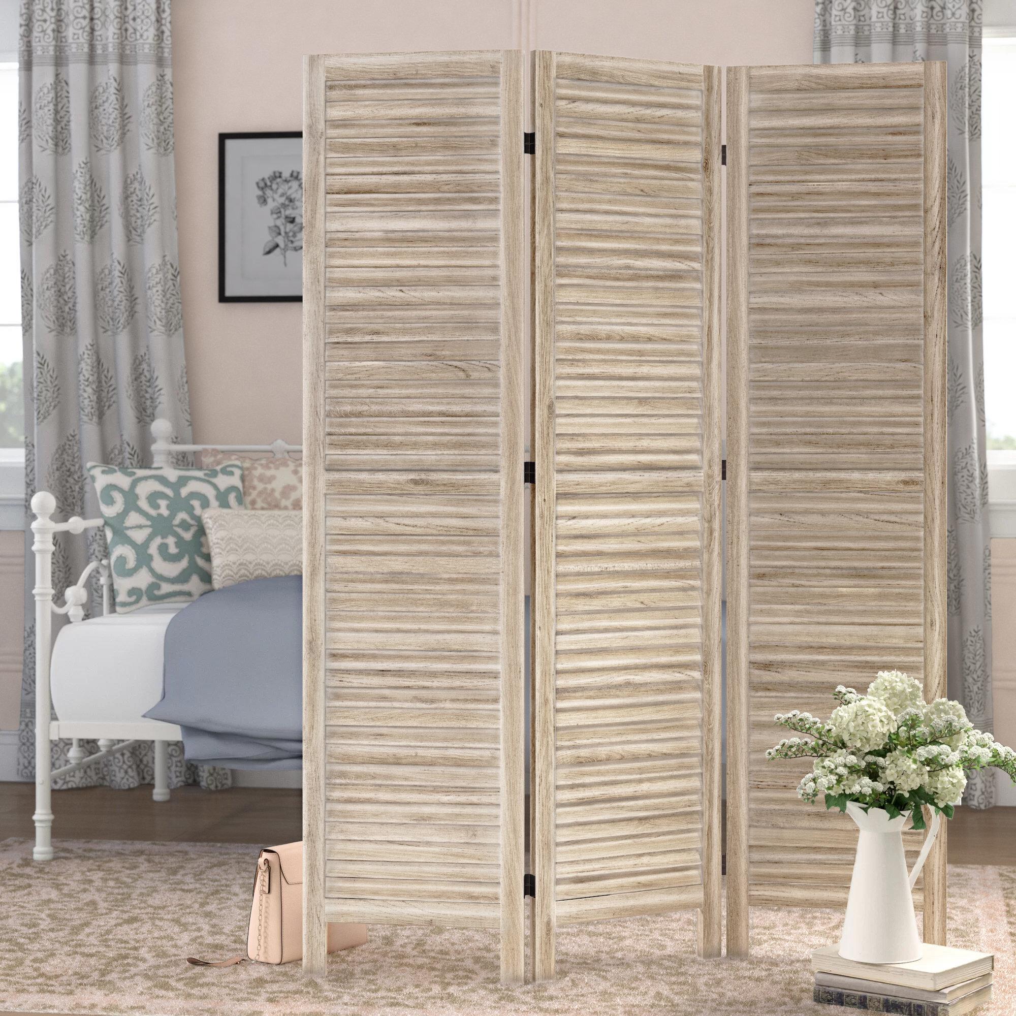 Laurel Foundry Modern Farmhouse Bowersville 50 W X 70 H 3 Panel Wood Folding Room Divider Reviews Wayfair