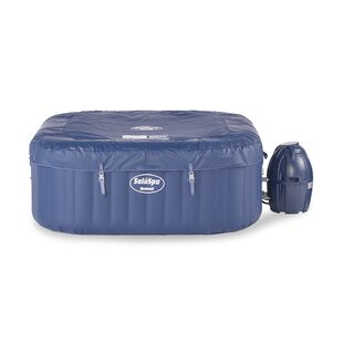 Coleman 6 - Person 140 - Jet Square Inflatable Hot Tub in Blue
