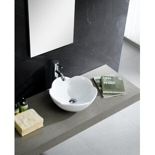 Shopping for Modern Ceramic Circular Vessel Bathroom Sink By Fine Fixtures