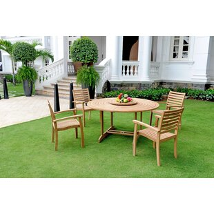 Darby Home Co Cooley Teak 5 Piece Dining Set