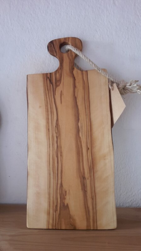 Wood Rustic Olive Cutting Board
