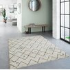 High Pile Berber Diamond Blue/Cream Rug by Norden Home
