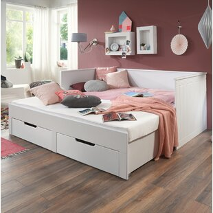 Mateo European Single Cabin Bed With Drawers And Trundle By Harriet Bee