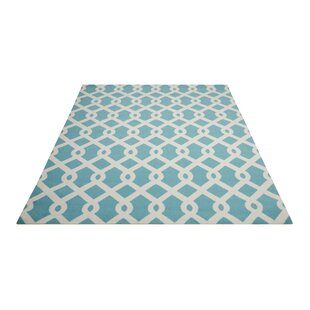 Sun N' Shade Blue/White Indoor/Outdoor Area Rug By Waverly