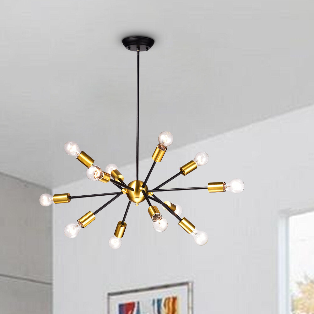 Wrought Studio Dorcia 12 Light Sputnik Sphere Chandelier Reviews Wayfair