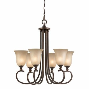 Edgewater 6-Light Shaded Chandelier by Darby Home Co