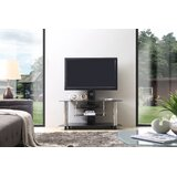 Glass TV Stand for TVs up to 50 by Hodedah