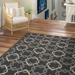 Kittrell Charcoal/Blue/Gray Indoor/Outdoor Area Rug