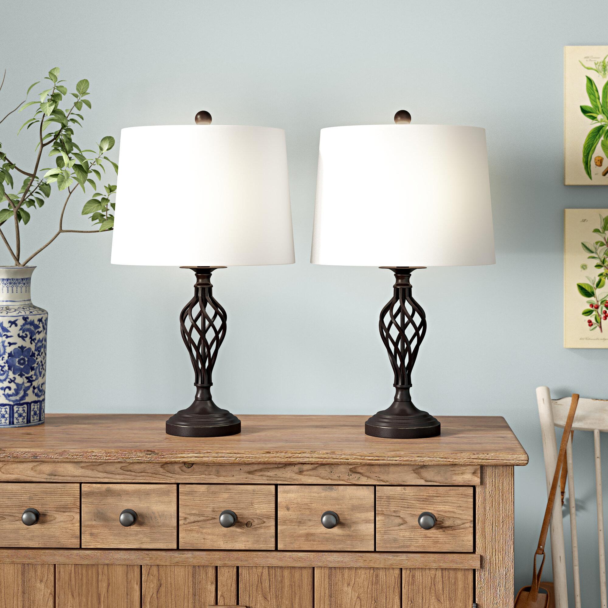 Rutledge 25 Table Lamp Set Reviews Birch Lane