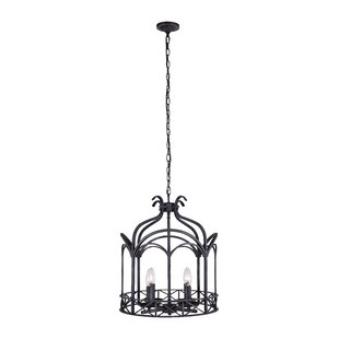 4-Light Lantern Pendant by CWI Lighting