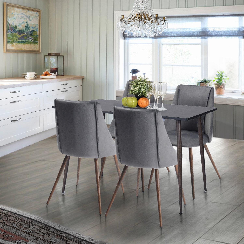 Wrought Studio Throckmorton 5 Piece Dining Set & Reviews | Wayfair