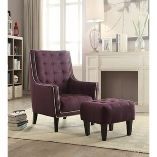 Bargain Melendez Armchair and Ottoman by Darby Home Co