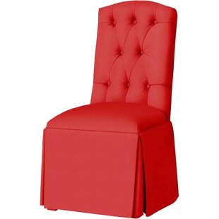 Red Barrel Studio Pearce Diamond Tufted Skirted Side Chair