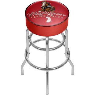Trademark Global Budweiser Clydesdale Swivel Bar Stool