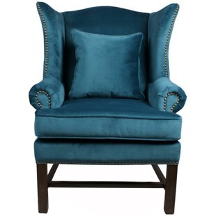 Ellery Fabric Wing back chair by New Pacific Direct
