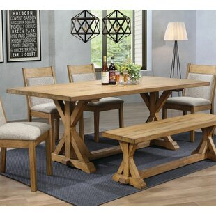 Gracie Oaks Wissner Solid Wood Dining Table