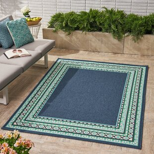 Hillenbrand Border Navy Indoor/Outdoor Area Rug