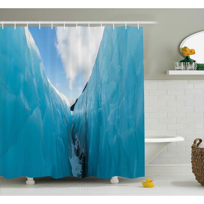 Latitude Run Rosalinde Nature Frozen Ice Mountains Shower Curtain
