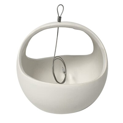 Urban Gardening Ceramic Hanging Planter Arcadia Garden Products Color: White