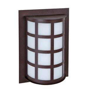 Latitude Run Caufield 1-Light Glass Outdoor Flush Mount