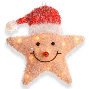 Smiling Star with Hat Christmas Decoration with 20 Clear Lights