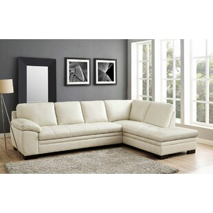 Woodland Leather Sectional with Ottoman