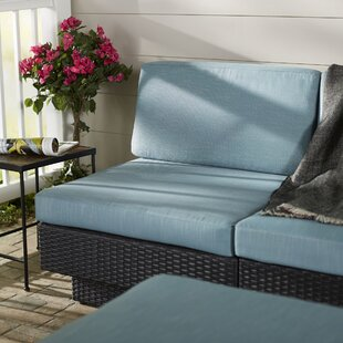 Chretien Patio Middle Seat Chair with Cushion