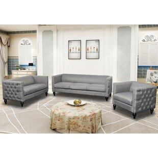 Annuziata 3 Piece Living Room Set