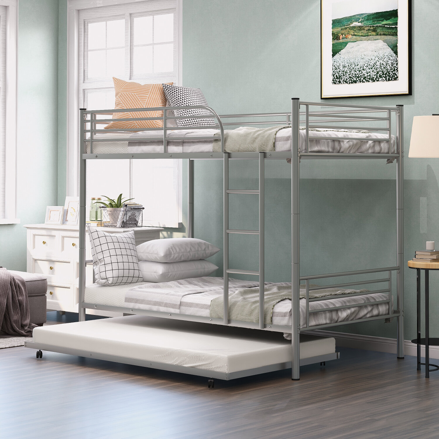 Isabelle Max Alemany Twin Over Twin Bunk Bed With Trundle Wayfair