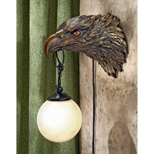 Enlightening Freedom Bald Eagle Sculptural Electric 1-Light Armed Sconce by Design Toscano
