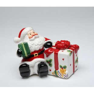 Santa With Express Gift Salt & Pepper Shaker Set by Cosmos Gifts