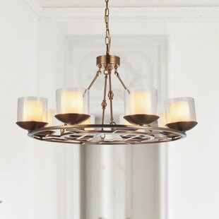 Hera 8-Light Shaded Chandelier by CWI Lighting