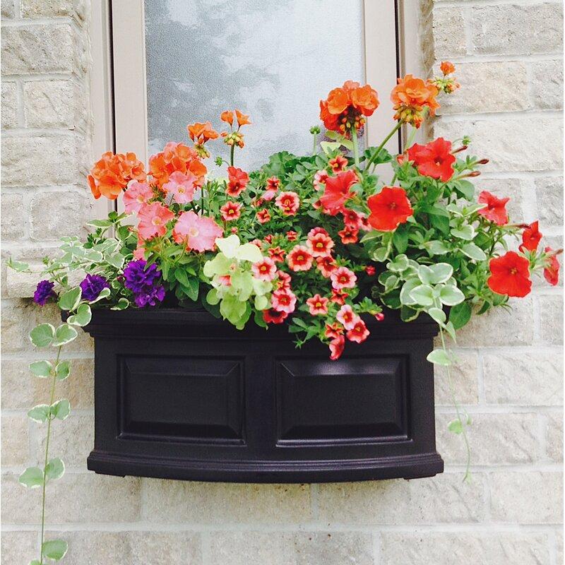 Mayne Inc Nantucket Self Watering Plastic Window Box Planter