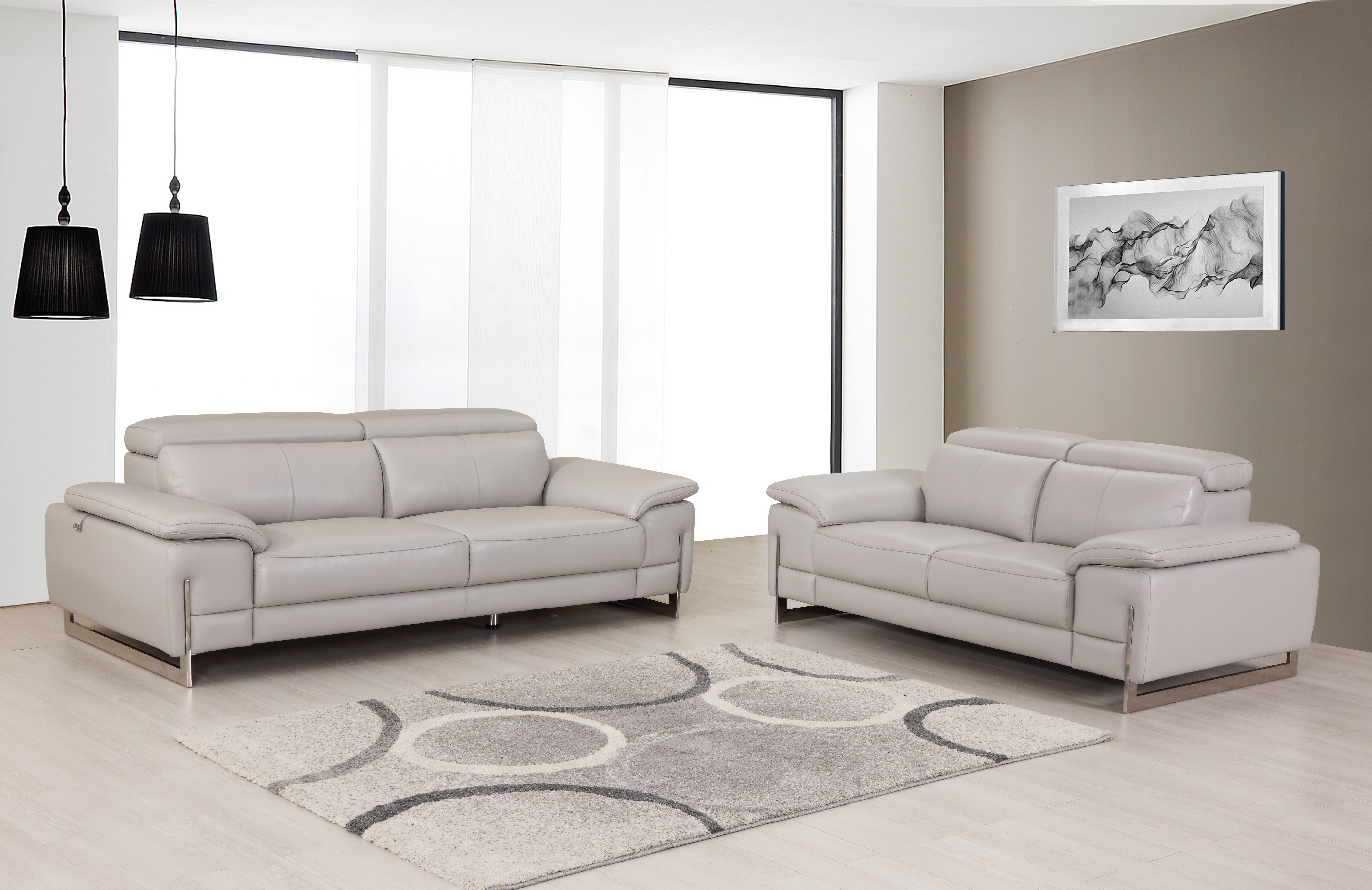 Amatury 2 Piece Leather Living Room Set
